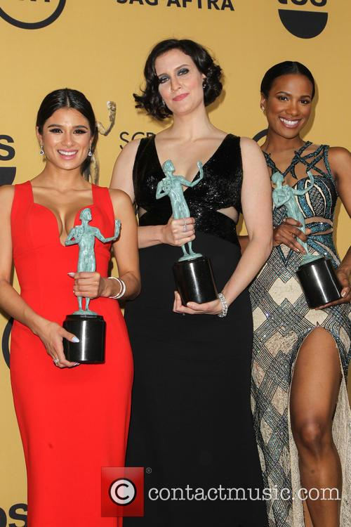 Diane Guerrero, Julie Lake and Vicky Jeudy 3