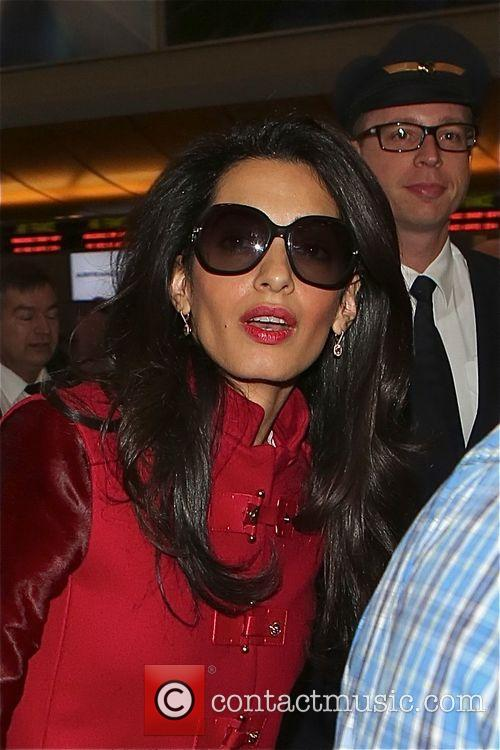 Amal Clooney at Los Angeles International Airport