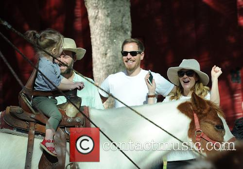 Drew Barrymore, Will Kopelman and Olive Kopelman 1
