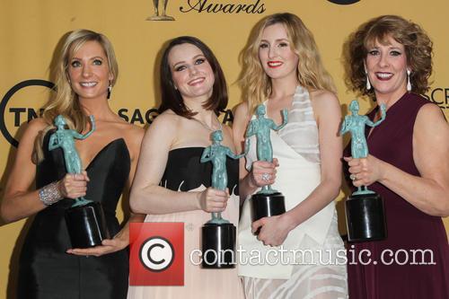 Joanne Froggatt, Sophie Mcshera, Laura Carmichael and Phyllis Logan 2