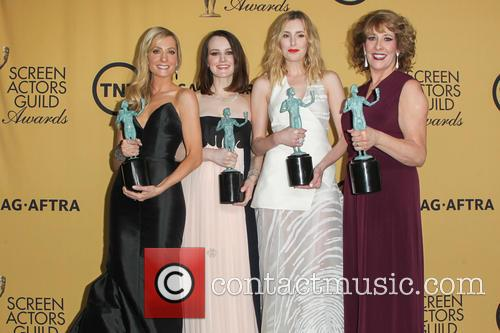 Joanne Froggatt, Sophie Mcshera, Laura Carmichael and Phyllis Logan 4