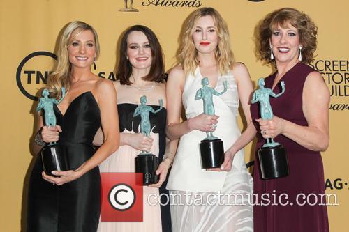 Joanne Froggatt, Sophie Mcshera, Laura Carmichael and Phyllis Logan 5
