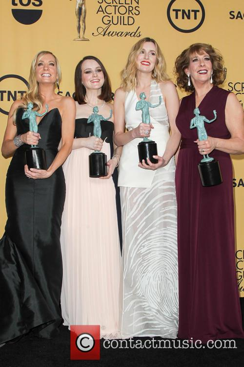 Joanne Froggatt, Sophie Mcshera, Laura Carmichael and Phyllis Logan 1