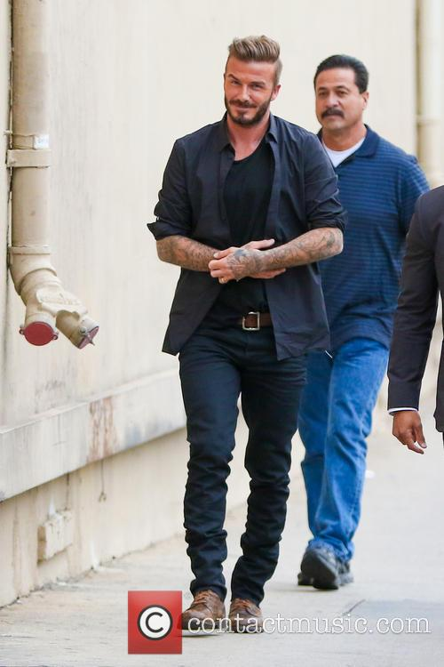 David Beckham arriving at the ABC studios for...