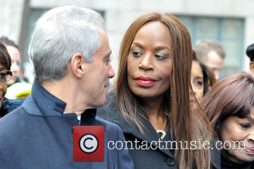 Daley, Rahm Emanuel and Liz Banks 1