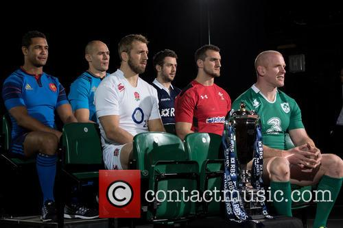Chris Robshaw, Greig Laidlaw, Paul O'connell, Sam Warburton, Sergi Parise and Thierry Dusautoir 4