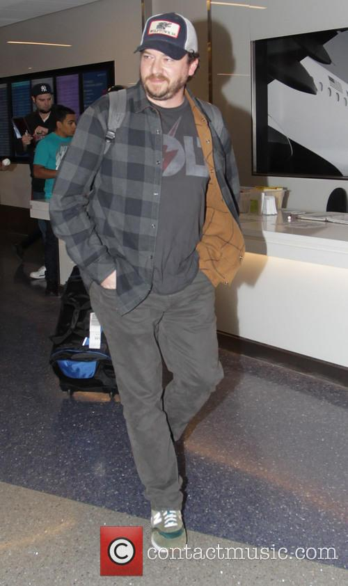 Danny McBride arrives at Los Angeles International Airport
