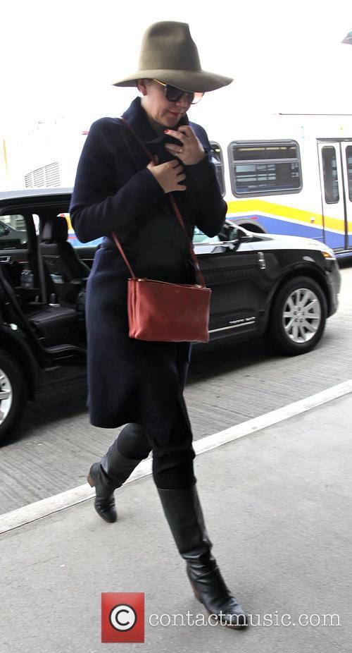Maggie Gyllenhaal departs from Los Angeles International Airport