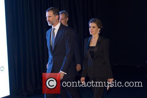 Queen Letizia and King Felipe celebrate the 25th...