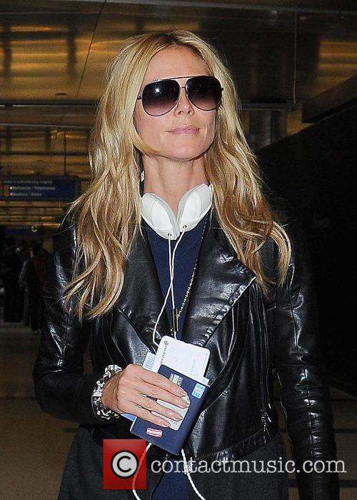 Heidi Klum departs from Los Angeles International Airport...