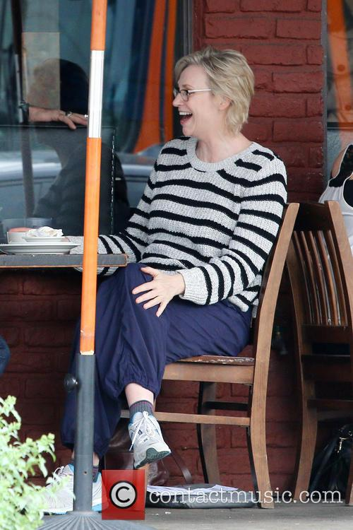 Jane Lynch has lunch at Kings Road Cafe...