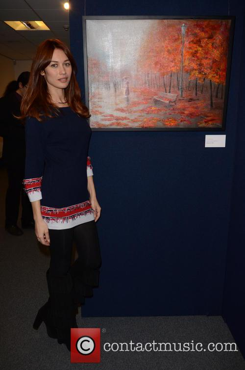 Olga Kurylenko and Next To Her Favourite Painting By Her Mother. 11