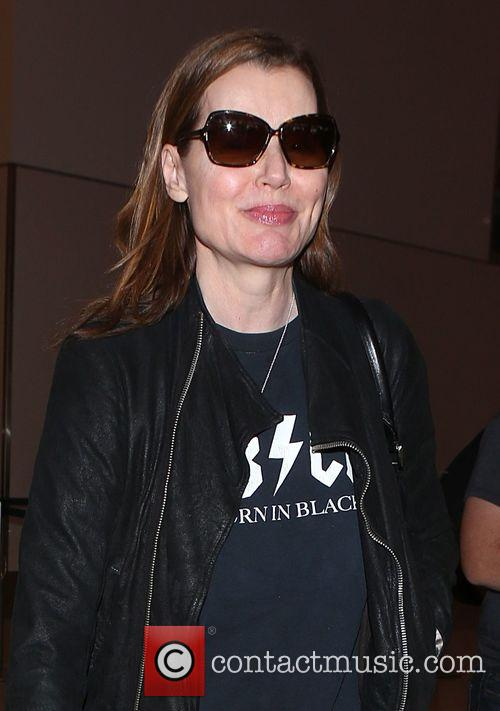 Geena Davis arrives at LAX airport