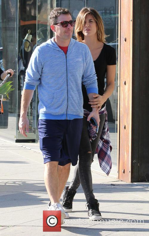 Elisabetta Canalis and Brian Perri leave Urth Cafe