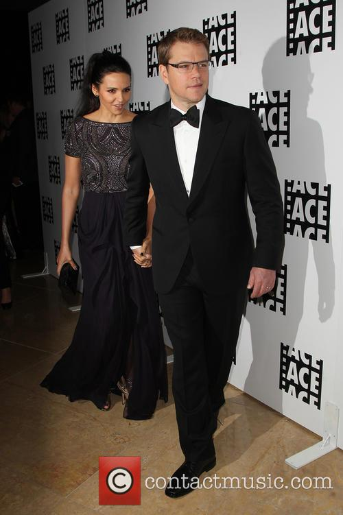 Luciana Barroso and Matt Damon 4
