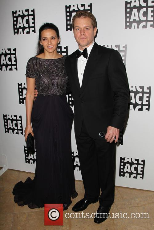 Luciana Barroso and Matt Damon 5