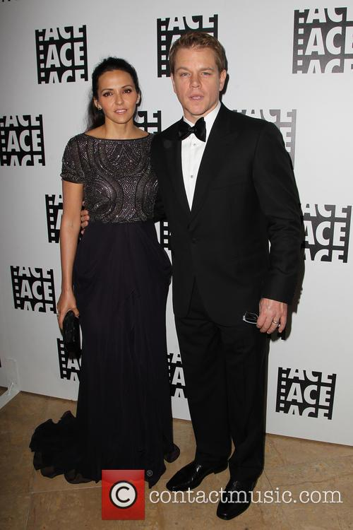 Luciana Barroso and Matt Damon 6