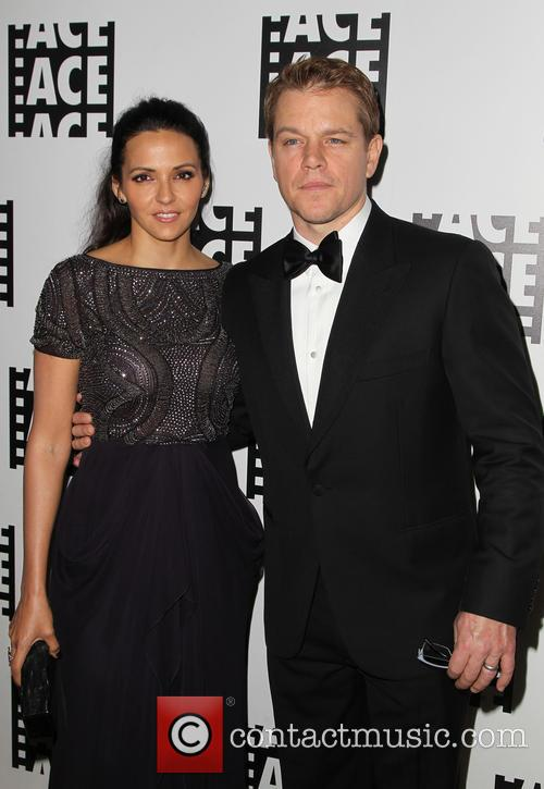 Luciana Barroso and Matt Damon 7