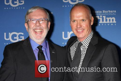 Leonard Maltin and Michael Keaton