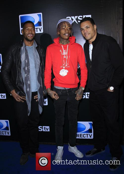Michael Strahan, Wiz Khalifa and Tony Gonzalez 4
