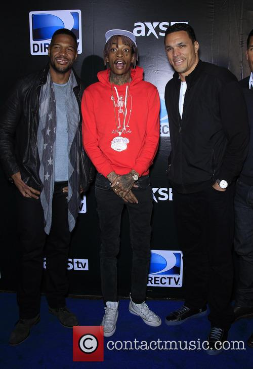 Michael Strahan, Wiz Khalifa and Tony Gonzalez 5