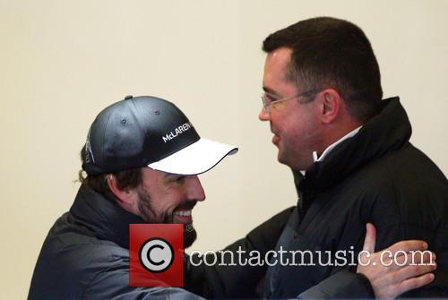 Fernando Alonso and Eric Boullier 2
