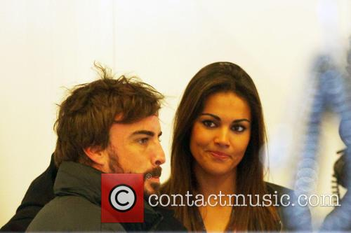 Fernando Alonso and Lara Alvarez