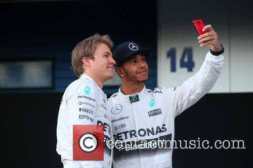 Nico Rosberg and Lewis Hamilton 6