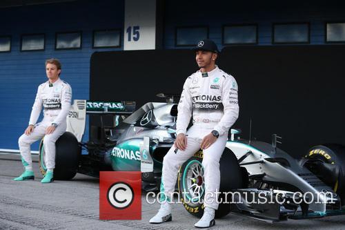 Nico Rosberg and Lewis Hamilton 8