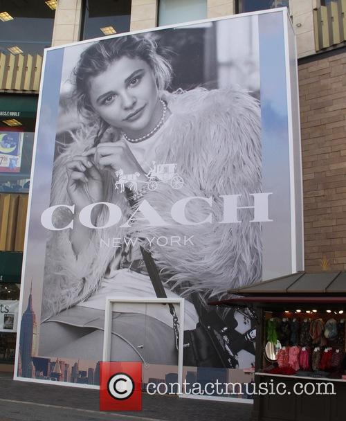 Chloe Moretz's advertising display billboard for 'Coach'