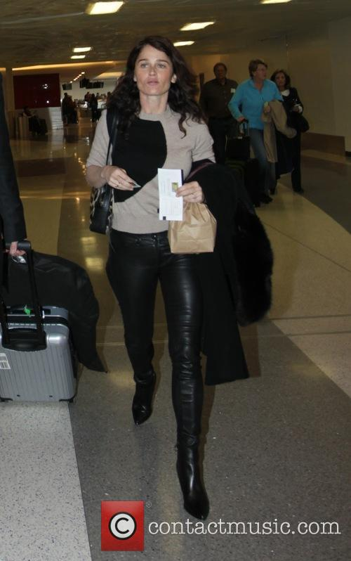 Robin Tunney at Los Angeles International Airport (LAX)