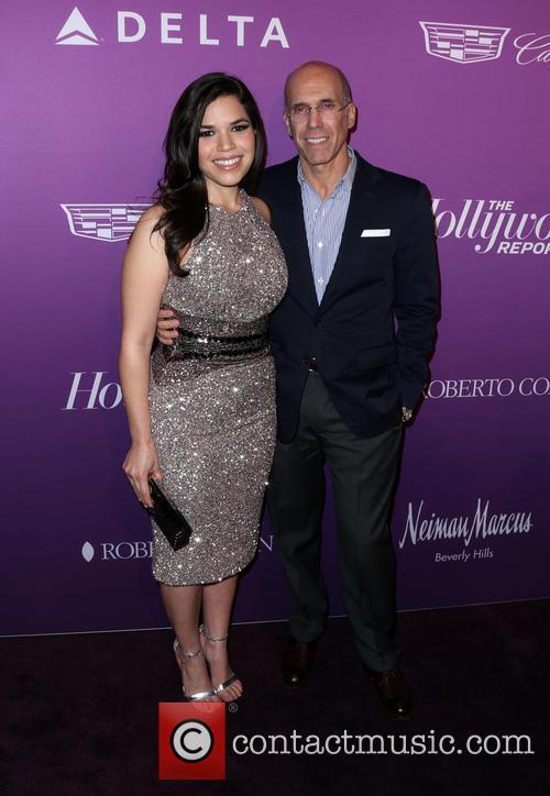 America Ferrera and Jeffrey Katzenberg 6