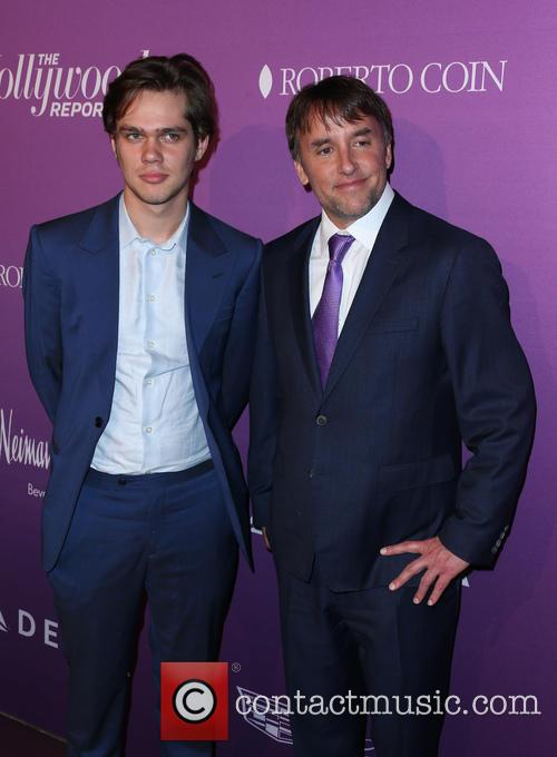 Ellar Coltrane and Richard Linklater 3
