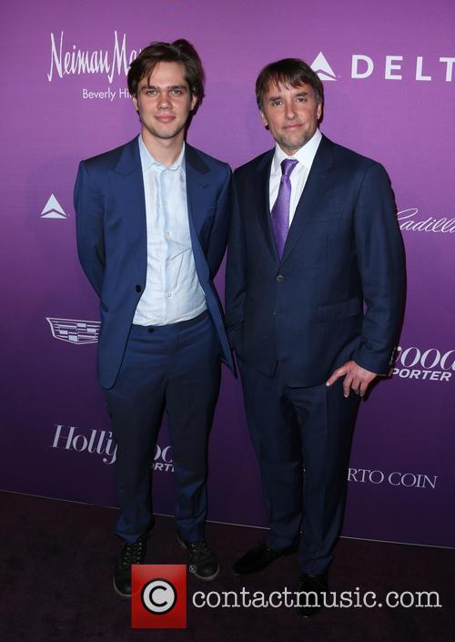 Ellar Coltrane and Richard Linklater 6