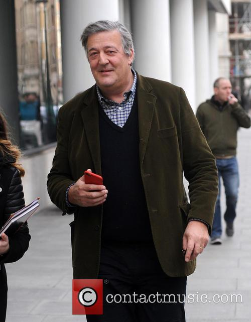 Stephen Fry sighting at The BBC