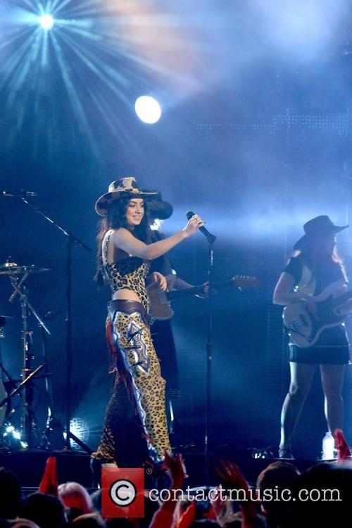 Charli XCX performing live on stage for Jimmy...