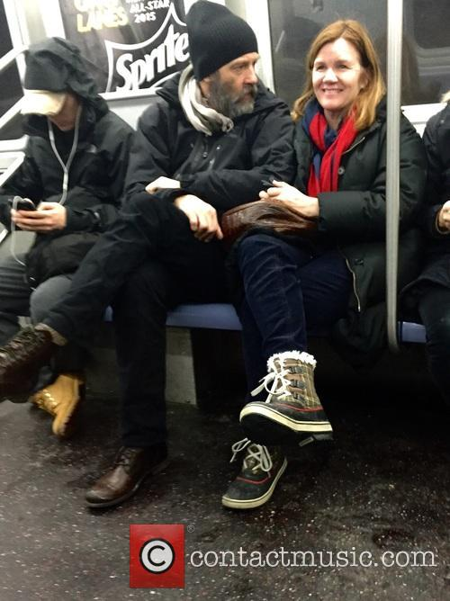Mare Winningham riding the E train in New...