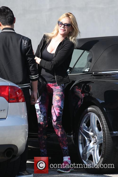 Melanie Griffith shopping at Maxfields