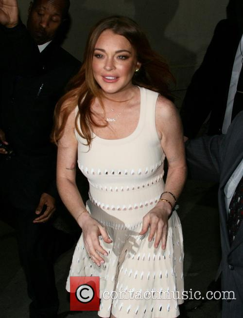 Lindsay Lohan leaving Jimmy Kimmel Live!