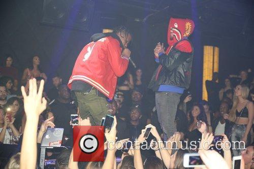 Chris Brown, Sean Kingston and Travis Scott 4