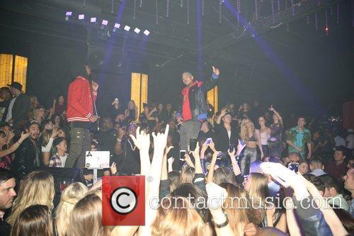 Chris Brown, Sean Kingston and Travis Scott 5
