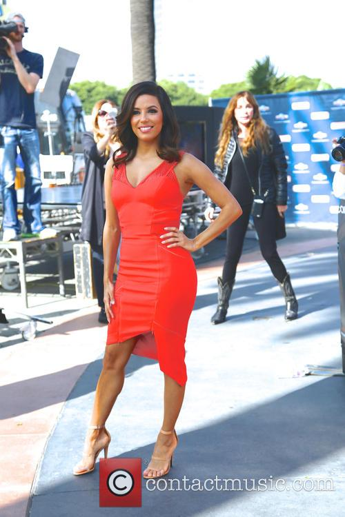 Eva Longoria is at Universal Studios Hollywood for...