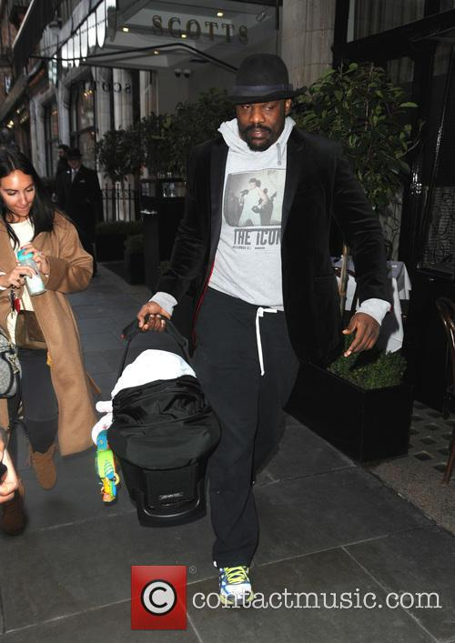 Dereck Chisora and family out and about in...