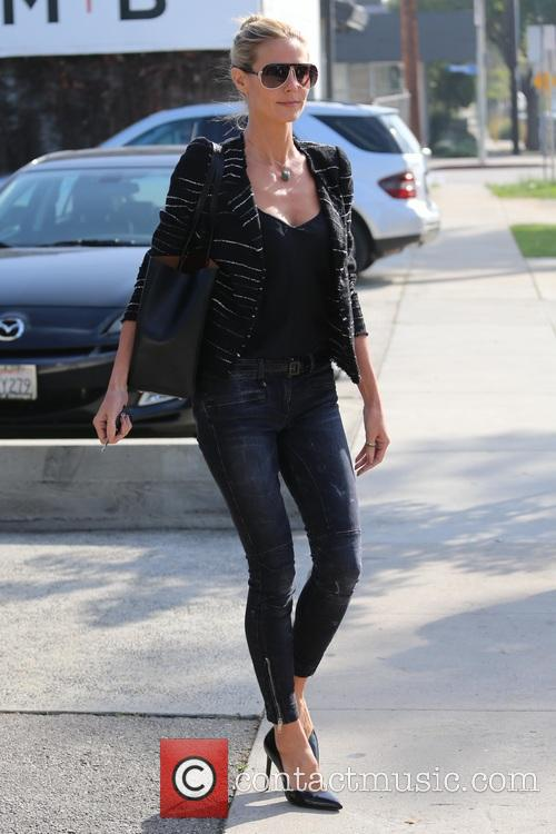 Heidi Klum leaving the Andy LeCompte salon