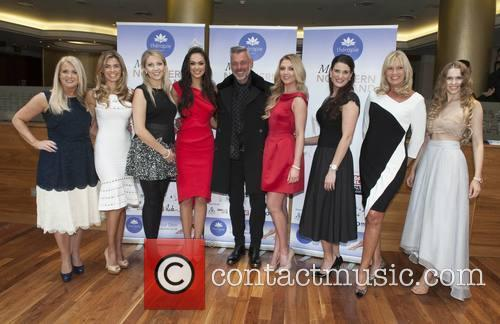 Darren Clarke With Former Miss Nis Caroline Solomon, Joanne Salley, Catherine Jenning, Rebekah Shirley, Meagan Green, Angela Montstephens, Alison Clarke and Zoe Salmon 2