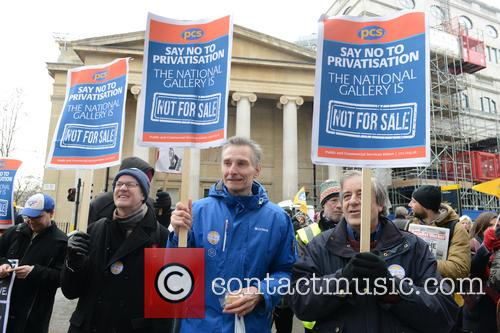 National Gallery staff on a five-day strike