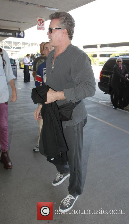Ray Liotta at Los Angeles International Airport (LAX)