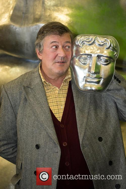 Stephen Fry at the British Academy Film Awards (BAFTA) rehearsal