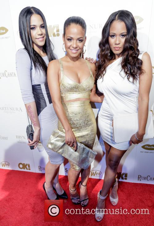 Elizabeth Flores, Christina Milian and Danielle Flores 1