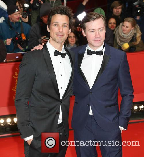 Photo of David Kross & his friend  Florian David Fitz